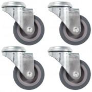 vidaXL 8 pcs Roulettes pivotantes à trou de boulon 50 mm