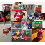 AST Works 8Pcs/Set TV Animation Super Wings Transforming Plane Characters Toys Xmas Gift