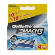 Gillette Mach3 Turbo rezerve aparat de ras 4 buc pentru bărbați