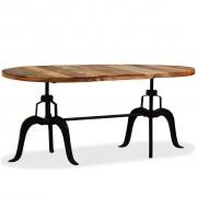 vidaXL Masă de bucătărie, lemn masiv reciclat și oțel, 180 cm