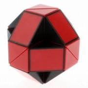rompecabezas de cubo de regla de serpiente magica shengshou juguete de giro de 24 wedges sin etiqueta - negro + rojo