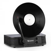 Auna Verticalo S Retro-Design-Plattenspieler Vertikal-Plattenteller USB schwarz