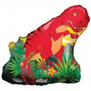 ballonnenparade Folie ballon xl dinosaurus 71 cm groot