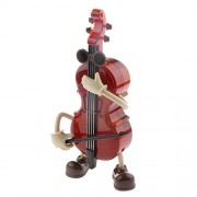 Generic Cute Swing Windup Cello Music Box Musical Toy Table Ornament Birthday Gift