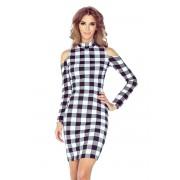 Morimia Černo-bílé šaty s dlouhými rukávy model 4977589 XXL