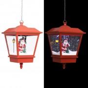 vidaXL Коледна висяща LED лампа с Дядо Коледа, червена, 27x27x45 см