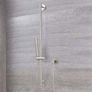 HudsonReed Kit Douchette sur Rampe Design Rond - Nickel Brossé
