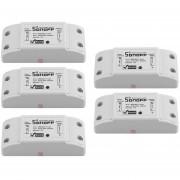 EW 5PC/SET Switch Smart Wireless WIFI 10A AC90-250V remota
