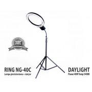 Lampa pierścieniowa do makijażu RING NG-40C 40W + Statyw 803