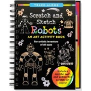Scratch & Sketch Trace-Along Robots: An Art Activity Book for Artistic Inventors of All Ages, Hardcover/Lee Nemmers
