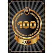 Merkloos Decoratie poster 100 jaar zwart en goud
