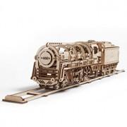 Puzzle 3D - Locomotiva cu abur, 443 piese