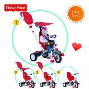 Tricicleta copii 3 in 1 Fisher-Price Charisma Rosu