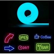 Svetelná reklama - flexibilný neónový pás 5M - IP68 krytie - Svetlo modrý