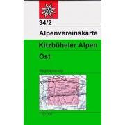 Deutscher Alpenverein - Kitzbüheler Alpen - Ost: Wegmarkierung - 1:50000 (Alpenvereinskarten) - Preis vom 11.08.2020 04:46:55 h
