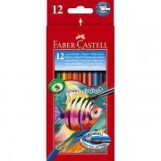 Creioane Colorate Acuarela + Pensula Faber-Castell 24 buc