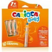 Creioane colorate 3 in 1 10 culori-cutie CARIOCA Baby 1+