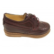 Pantofi Oxford fete bordeaux din lac