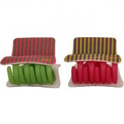 Maayra Women Girls Hair Clutchers Claws Stripes in Multicolour for Dailywear Pack of 2
