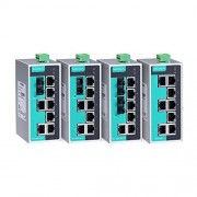 Moxa Unmanaged Ethernet Switch with 7 10/100BaseT(X) Ports, and 1 100BaseFX Single-Mode Port with SC Connector, -40 to 75C Operating Temperature