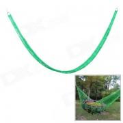 SW3007 camping hamaca de oscilacion de nylon portatil para una sola persona - verde