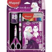 Set scolar,4piese,Maped Tatoo Princess
