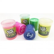 Colored Barrel Of Slime Three Different Colors with Mega-Slime 3-Pack Glow In The Dark Slime Assorted Neon Colors For Kids (6-Pack Total)