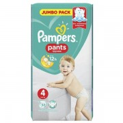 PROCTER & GAMBLE Pampers Pants 4, (9-15kg +) Windeln, 52 Stück