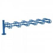 Procity Stojan na kola DÉCO, doplňující, oboustranný, 6 místný – City modrá - ral 5010