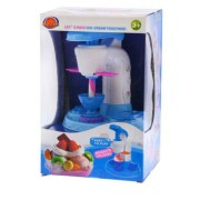 Gyurma készlet, fagylalt készítő, fagyi kinyomó gép, 7 színű gyurma, sok kiegészítő, 18x28 cm dobozban