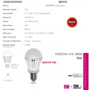 LAMPADINA LED - NON DIMMERABILE - 9W=75W LUCE BIANCO CALDO