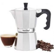 Ibric pentru cafea Espresso Italiana VonShef 1000140, 6 Cupe, Cafea Moka