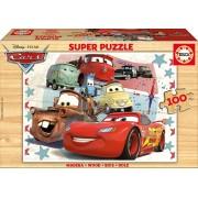 Puzzle din lemn Educa - Cars, 100 piese (16800)