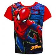 Tricou cu maneci rosii Spiderman marime 128