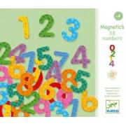 Set 38 cifre magnetice din lemn colorate Djeco