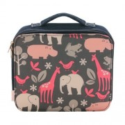 Girls' 'Yummie' Lunch Bag with Pink and Gray Zoo 'Zoe' Print