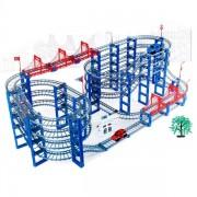 Stor Bilbana Track med 2st bilar och broar