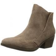 Madden Girl Women's Boloo Ankle Bootie, Taupe Fabric, 6 M US