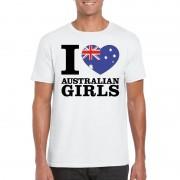 Shoppartners I love Australian girls t-shirt wit heren