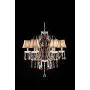 Furniture of america L95113H Christina collection hanging crystals hanging ceiling lamp with 6 small lamp shades