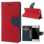 Mercury Pouzdro / kryt pro Apple iPhone 6 / 6S - Mercury, Fancy Diary Red/Navy