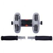 Power Stretch AB Roller Anti-Skid Double Wheel Total Body AB Roller Exerciser for Abdominal Stomach with Knee Mat