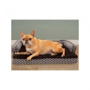 FurHaven Comfy Couch Memory Top Cat & Dog Bed w/Removable Cover, Diamond Brown, Medium