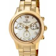 Ceas de dama Swiss Made Auriu Cadran Alb 1 diamant bratara metalica aurie Christina Watches Collect