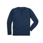 Pima-Cotton Henley-Shirt, 52 - Blau
