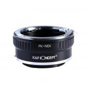 K&F Concept PK-NEX II adaptor montura Pentax K la Sony E-Mount (NEX) KF06.363