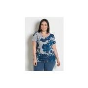 Blusa com Tira nas Costas Plus Size Floral MARGUERITE