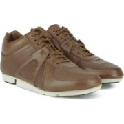 Clarks Triturn Hi Tan Leather Casual Shoes For Men(Tan)