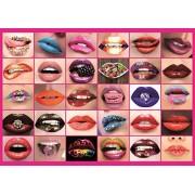 Piatnik Puzzles Lips Collage 1000 Piece Jigsaw Puzzle