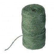 Nature jute touw groen 75 meter